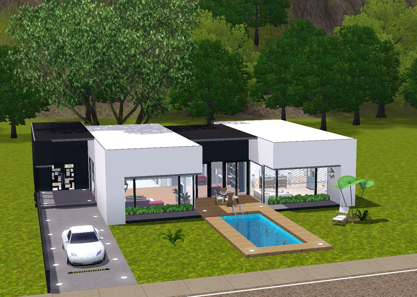 19 Sims 3 Blog: Modern Bungalow 1