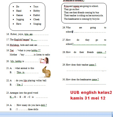 UUB - english 2 (31 mei 12)