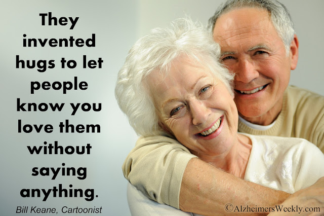 Thought: They invented hugs to let people know you love them without saying anything.
