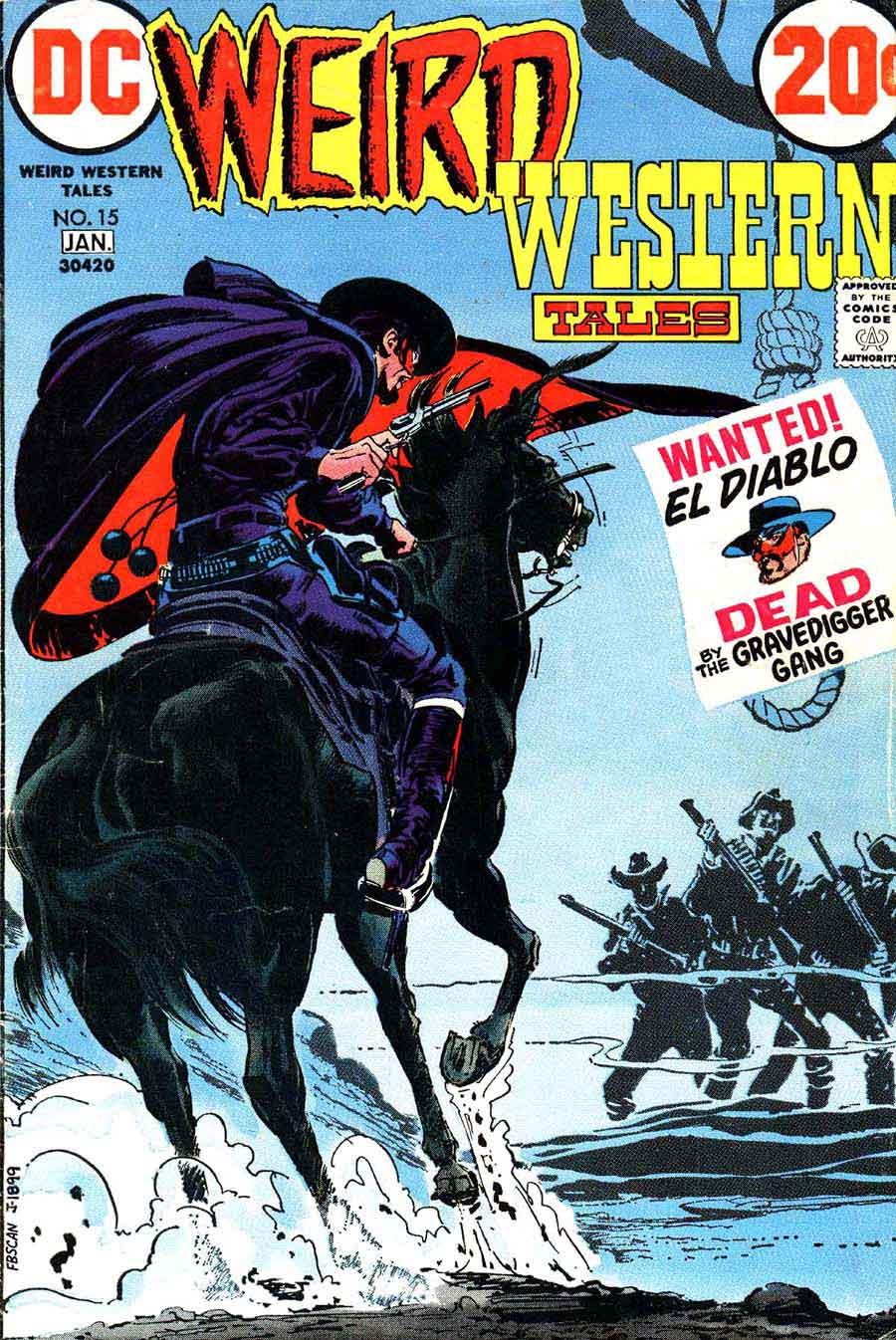 Western Book Cover Art : Weird western tales neal adams art cover pencil ink