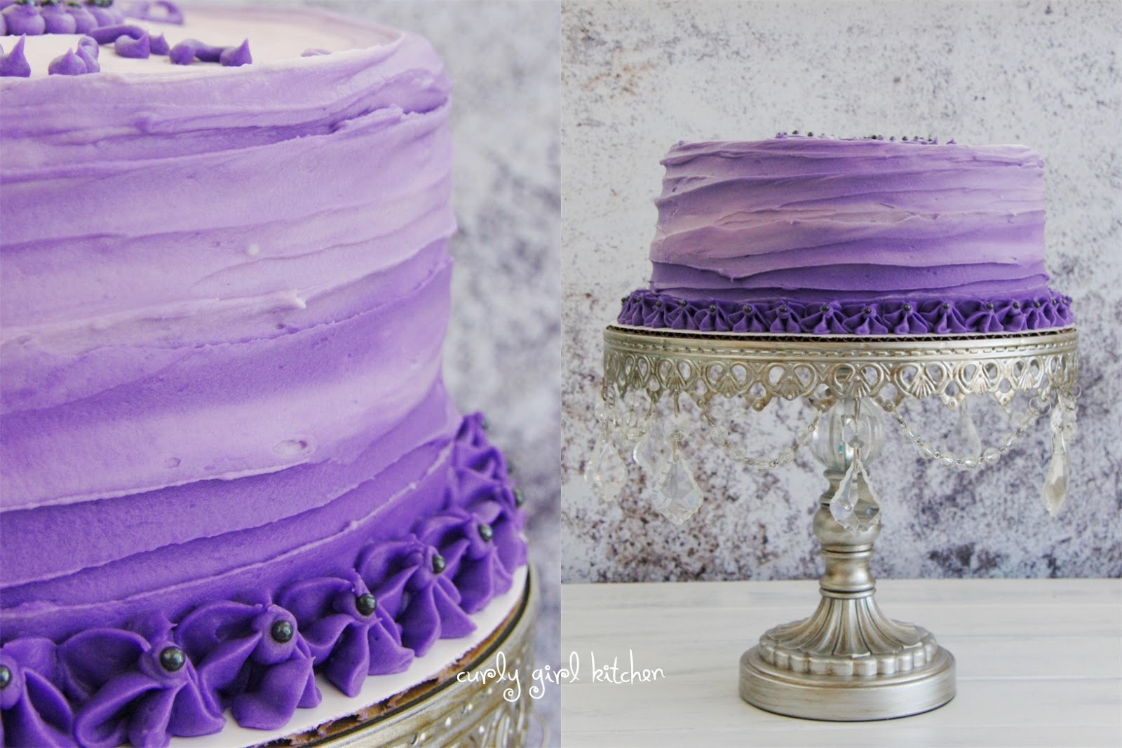 Curly Girl Kitchen Ombre Birthday Cake