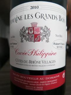 Label photo of Domaine les Grands Bois Cuvée Philippine Côtes du Rhône-Villages 2010