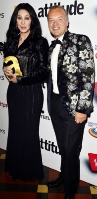 Cher and Graham Norton at The Attitude Awards