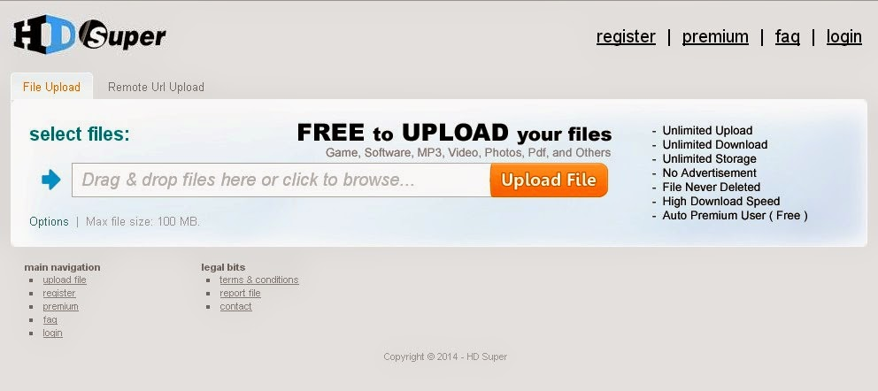 HD SUPER Upload File Gratis Unlimited