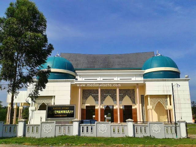Masjid Al-Munawwarah, Kota perdagangan, Simalungun, Sumatra Utara