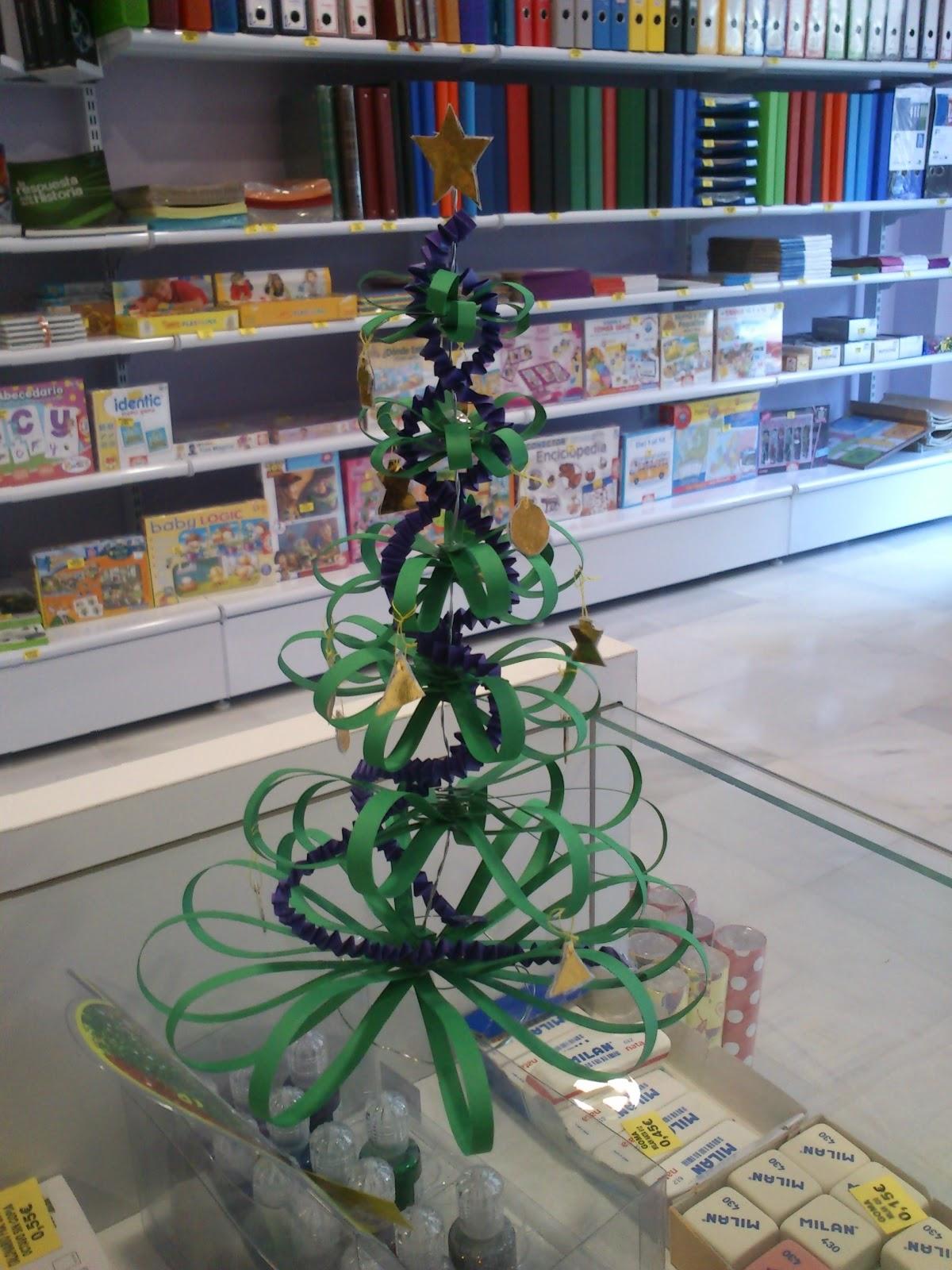 Manualidades con cuatro cosillas rbol navide o - Arbol de navidad de alambre ...