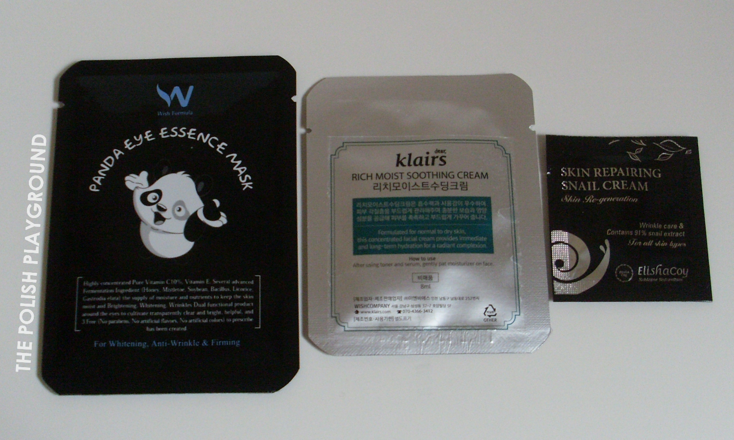 Wishtrend Haul - Wish Formula Panda Eye Essence Mask, samples