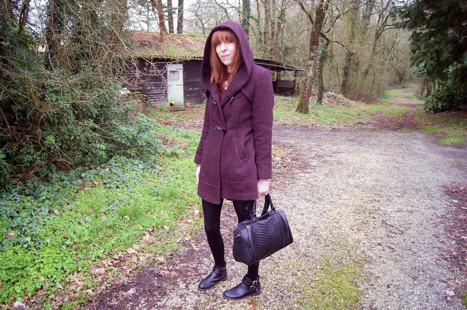 marsala manteau look hiver