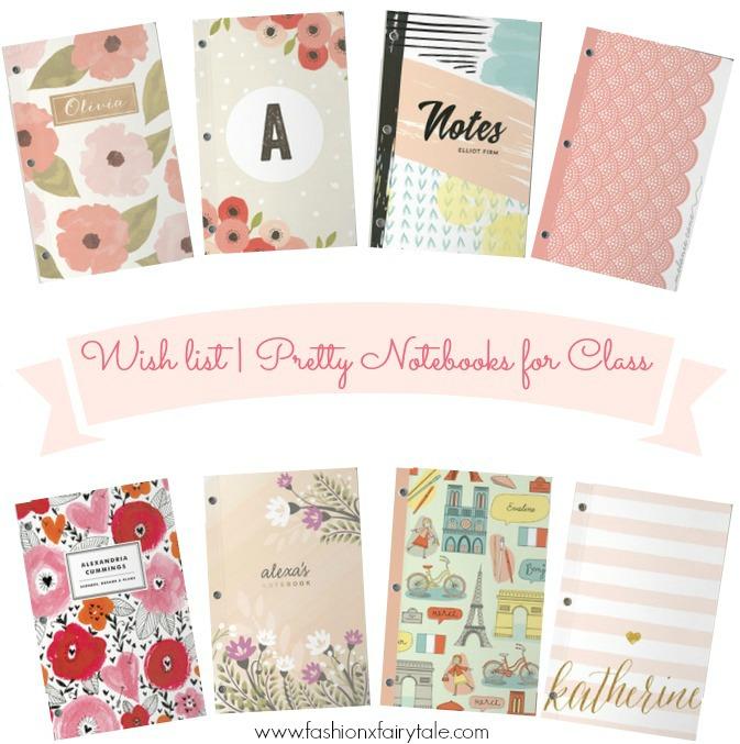 Wish list | Pretty Notebooks for Class
