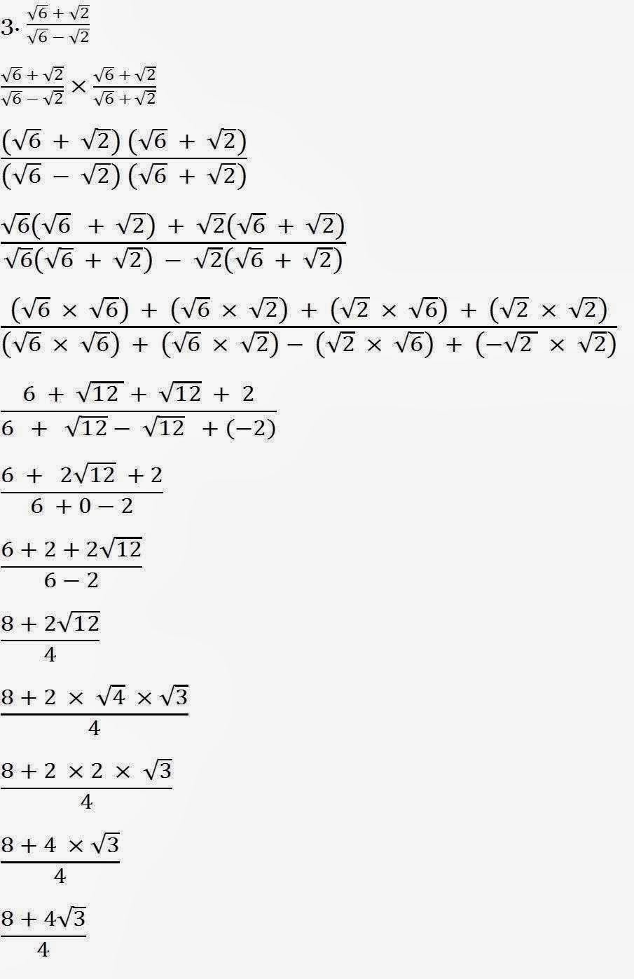 Mathematics Tutorials: Maths Made Easy!: Conjugate of a Surd