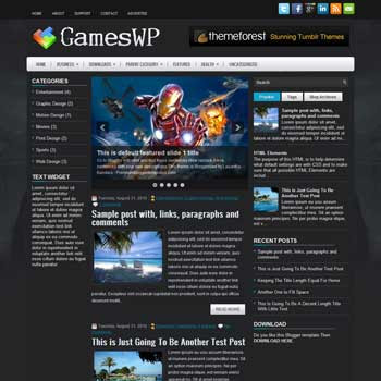GamesWP blog template. magazine blogger template style. download blogger template games