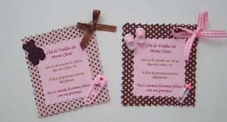 Convite Convites Ch   Fraldas Beb   Fralda Ursinho Ursinha