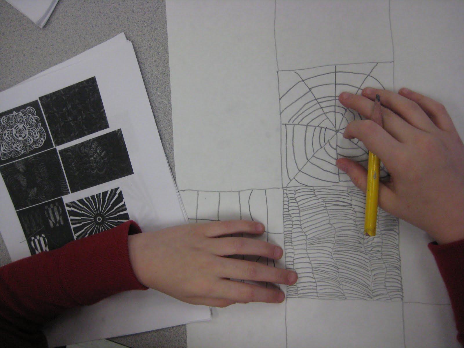 Op Art Line Design Lesson : Optical art cube dali s moustache