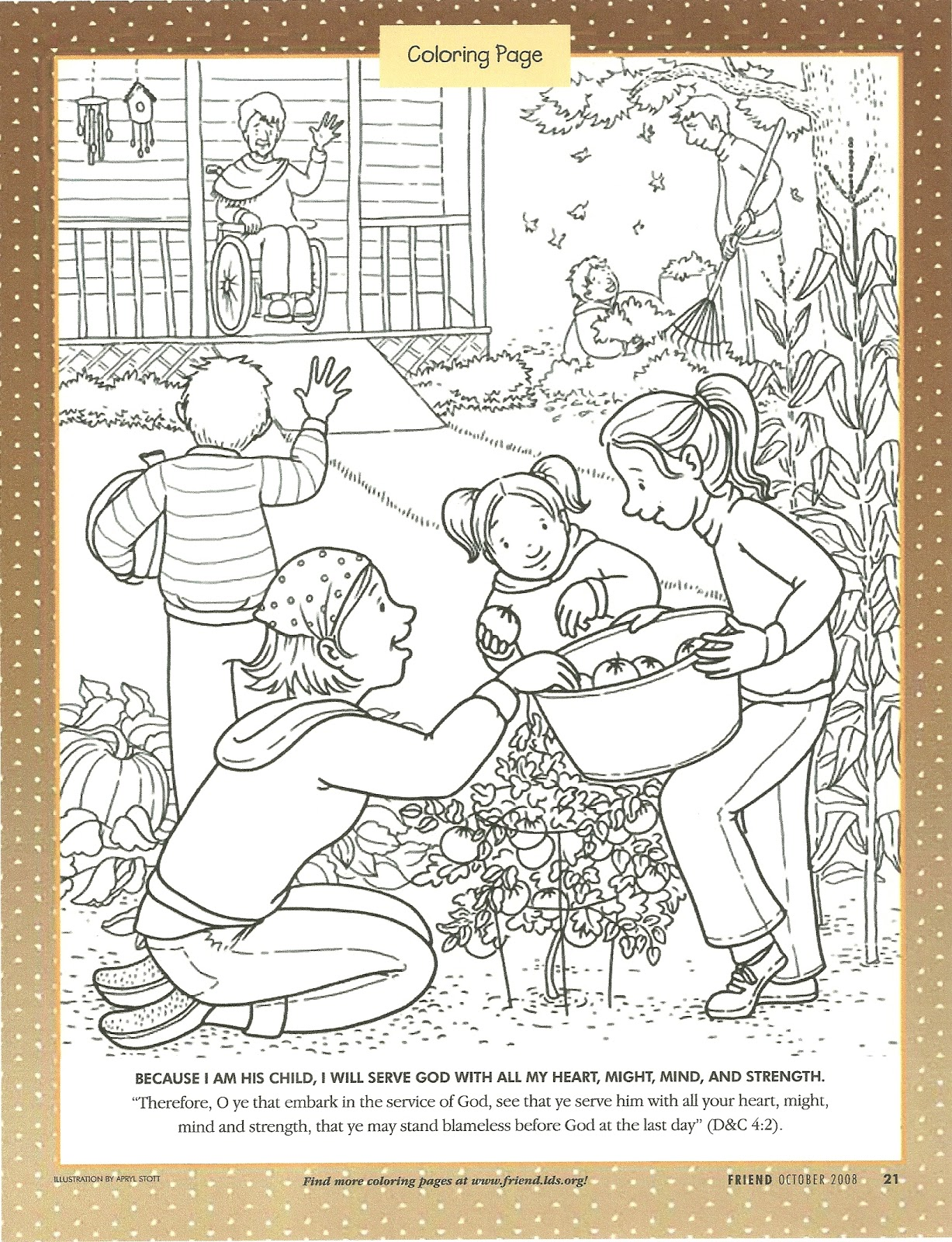 Free Kindness Acts Coloring Pages