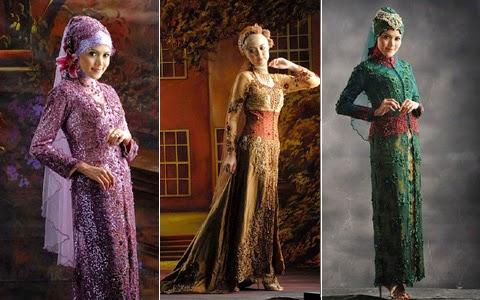 Contoh busana muslim, baju muslim Kebaya Modern Model Baru