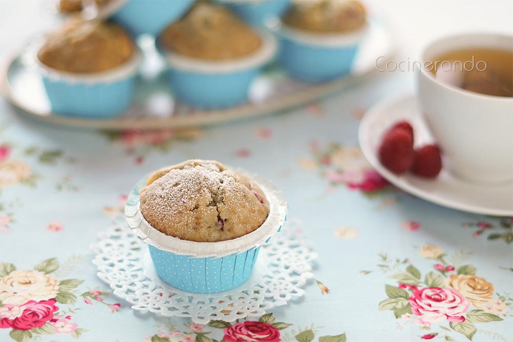 muffins-chocolate blanco-frambuesas