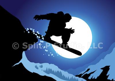 snowboarding vector art