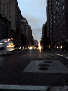 Dark Downtown with Lights from Times Square in the Distance - Hurricane Sandy