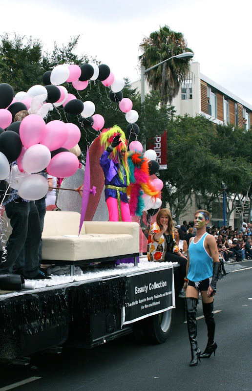Beauty Collection float WEHO Pride Parade