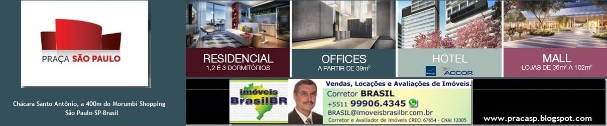 PRAÇA SÃO PAULO Aptos 1,2,3 dorms.,Torres Office-Corporativa-Hotel, atrás do Morumbi Shopping-SPaulo