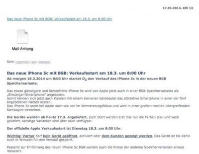 18 Maret, Apple Akan Rilis iPhone 5C-8GB