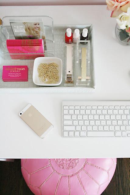 office white, white faux crocodile fabric, office space, desk decor, office accessories