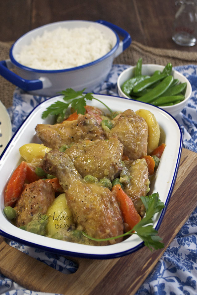 Chicken con guisantes recipe