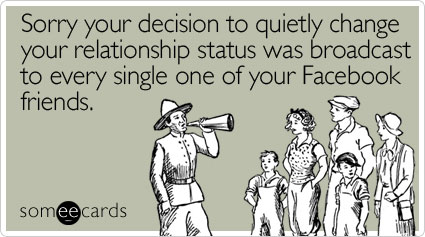 Change relationship status on facebook without broadcasting