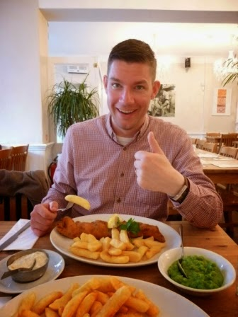 A large portion of chips, with fish. With a side order of chips. All gluten free and served up at the Fish Factory in Worthing