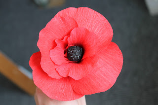 how to make a paper poppy