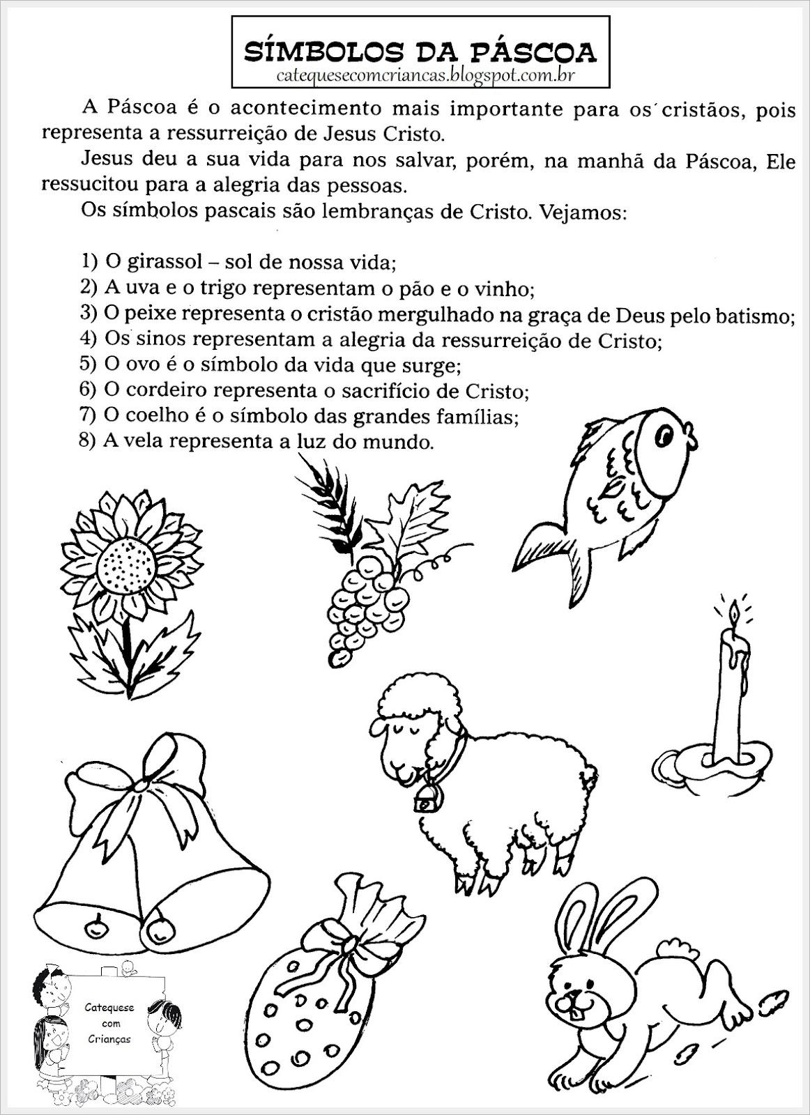 Imagens Dos Simbolos da Pascoa Símbolos da Páscoa