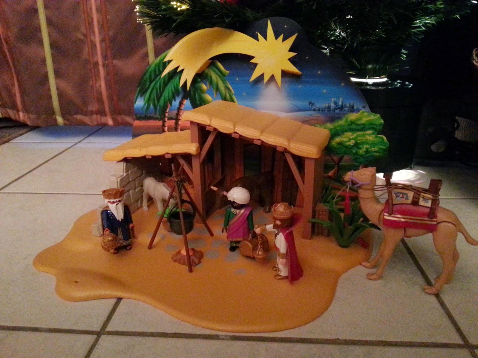 Crèche Noël playmobil