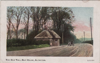 Vintage postcard of the Old Toll-Bar House, Alfreton
