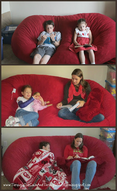 read aloud, bean bag