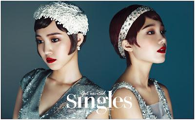 Eunji and Naeun A Pink - Singles Magazine August Issue 2013