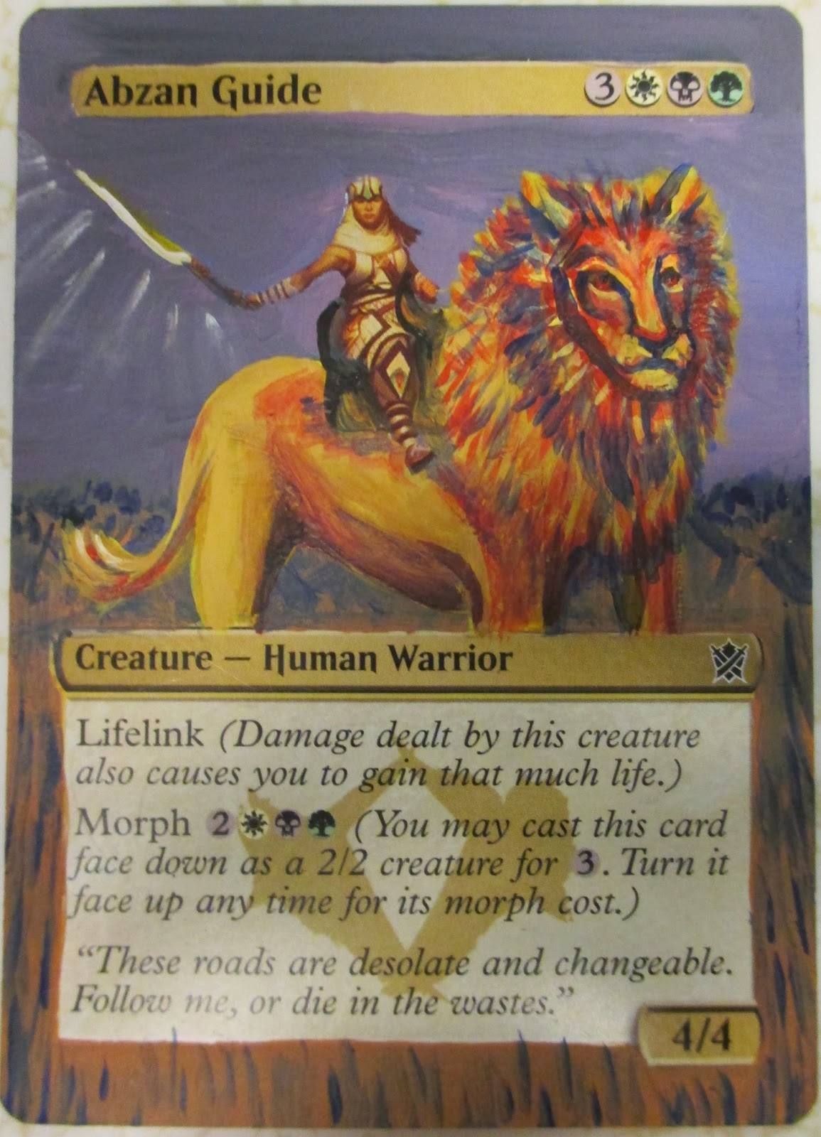 Magic Abzan Guide on lion