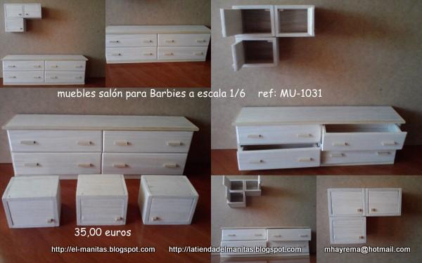 """La tienda de """"el manitas"""": mueble salón a escala 1/6"""