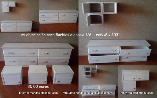 La tienda de el manitas mueble sal n a escala 1 6 for Muebles a escala 1 50 para planos