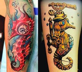 Melhores tatuagens de cavalo marinho