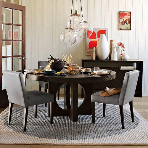 Tapete Sala De Jantar Mesa Redonda ~ uma refeição, a mesa redonda naturalmente permite o entrosamento de