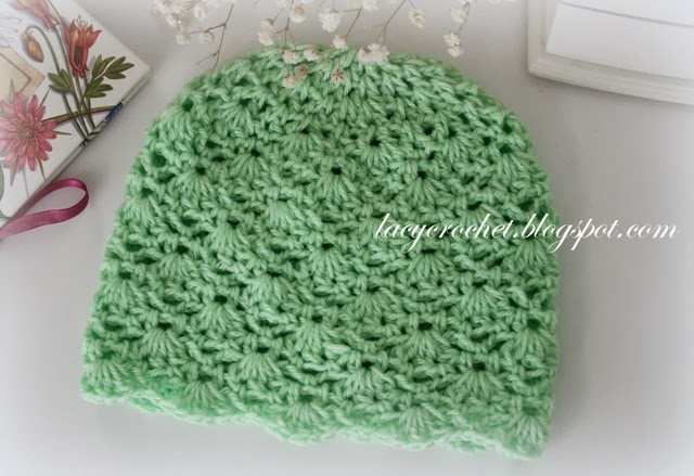 Lacy crochet crochet baby hat size 6 12 months advanced level so here is a free crochet pattern for a baby hat made in same stitch as the green baby blanket as i was making it i aimed for a smaller size either dt1010fo