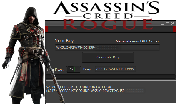 activation code for assassins creed rogue