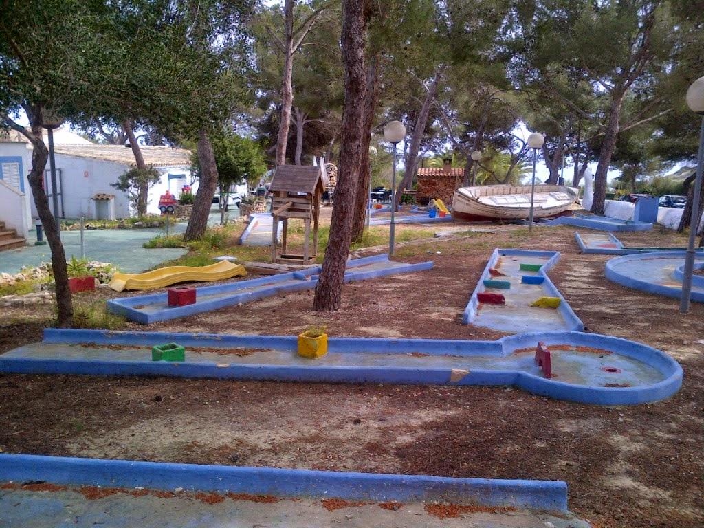 The minigolf course at Restaurante Vista Alegre in Porto Cristo, Majorca