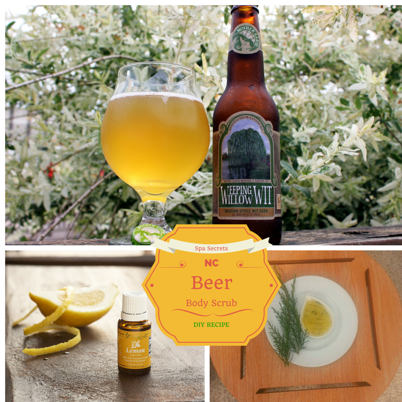 Spa Secrets: NC Beer Body Scrub Recipe using NC Beer and Lemon Essential Oil. EnjoyLifeOils.com