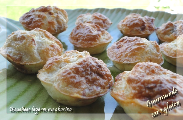 Bouchées légères au chorizo sans gluten