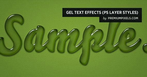 Gel Text Effects