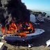 Drone films 24 million yacht fire in San Diego (Video)
