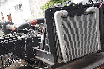Perawatan radiator bus sebelum mudik lebaran