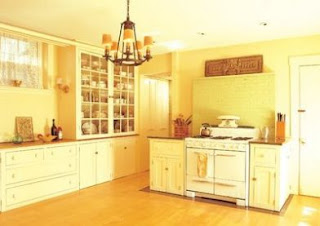 Yellow Kitchen Cabinets Pics
