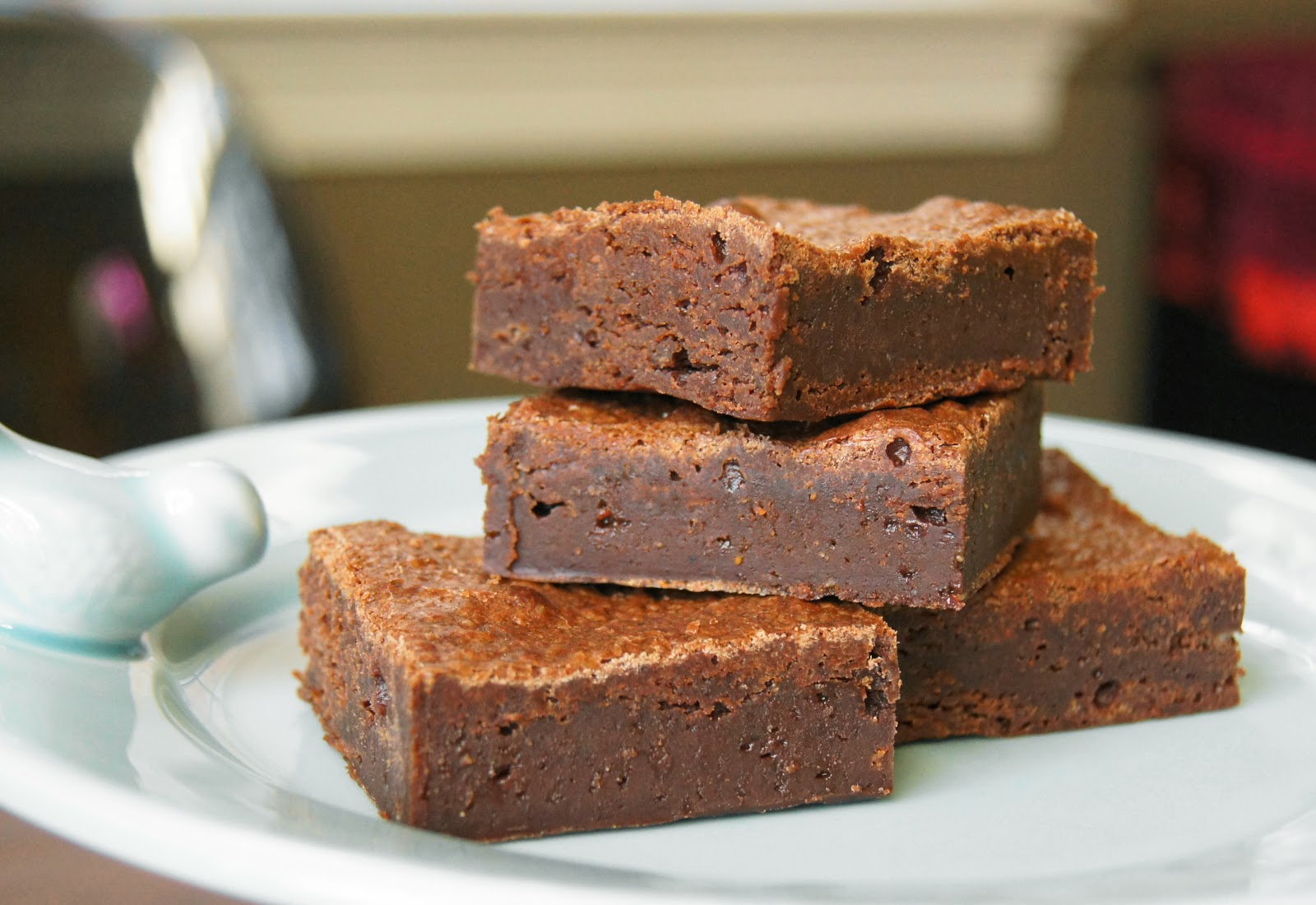 not surprisingly these brownies looked just like the baked brownie
